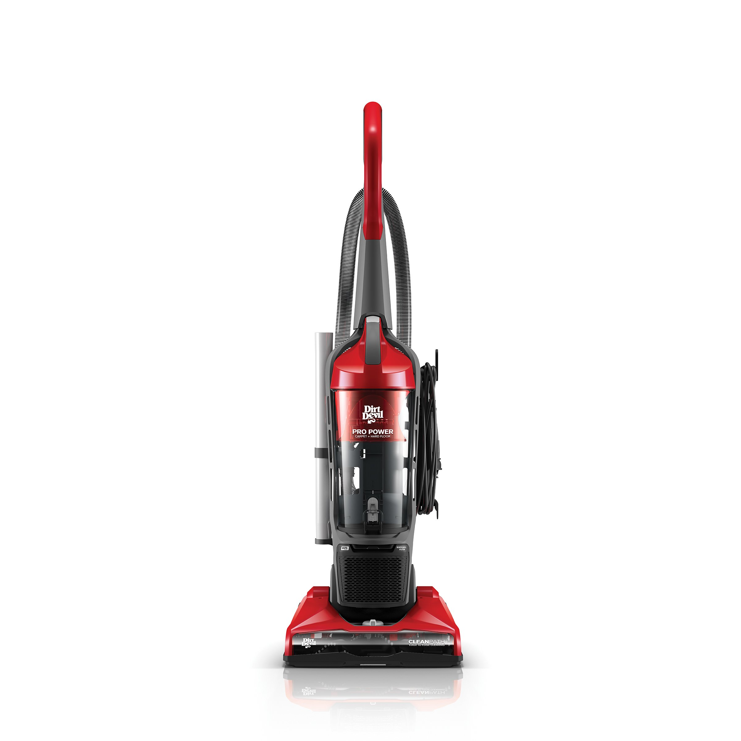 Dirt Devil Vacuum Cleaner Pro Power Bagless Corded Upright Vacuum UD70172