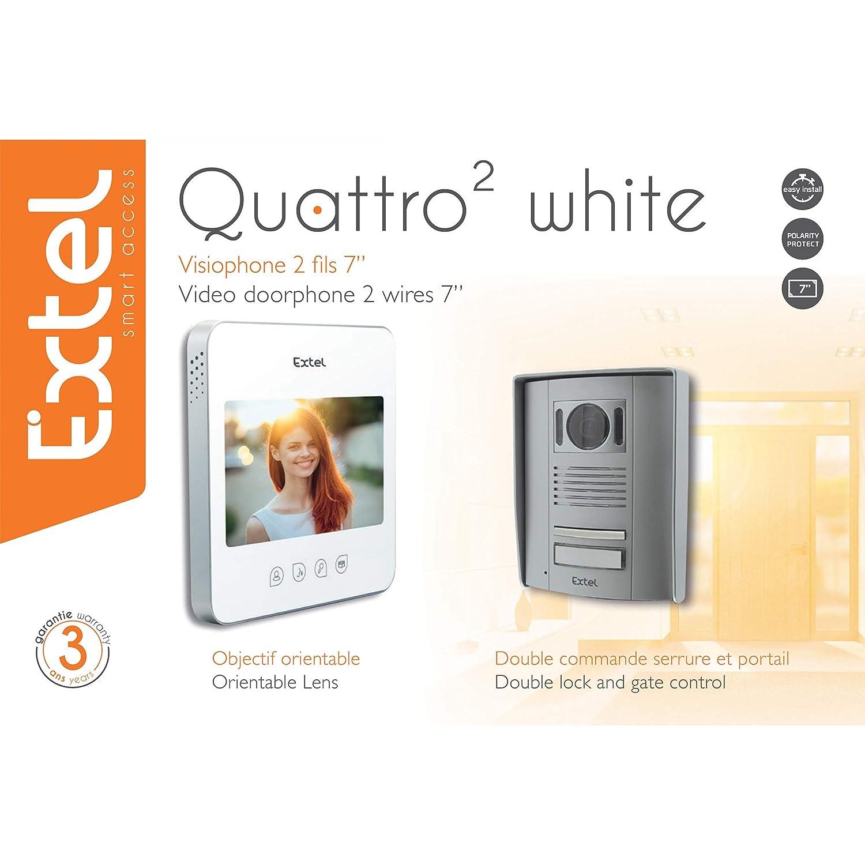 Extel 720294 Videoportero/Quattro 1W Blanco