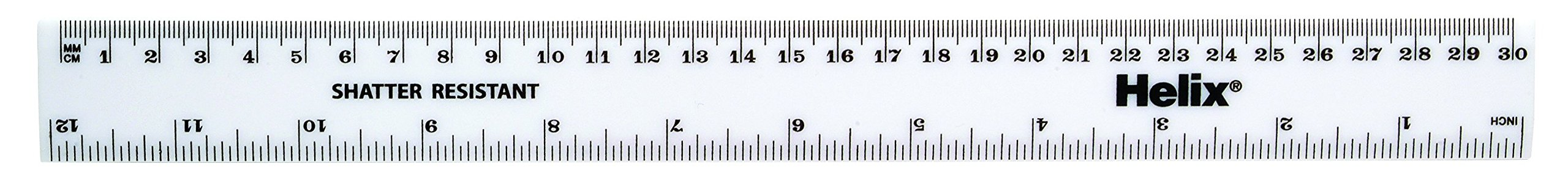 Helix 30cm 300 mm Metric Ruler White (Box of 100) by Helix