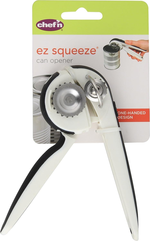 Chef/'n EZSqueeze One Handed Can Opener Handicap Senior Kitchen Tool Gadget Gift
