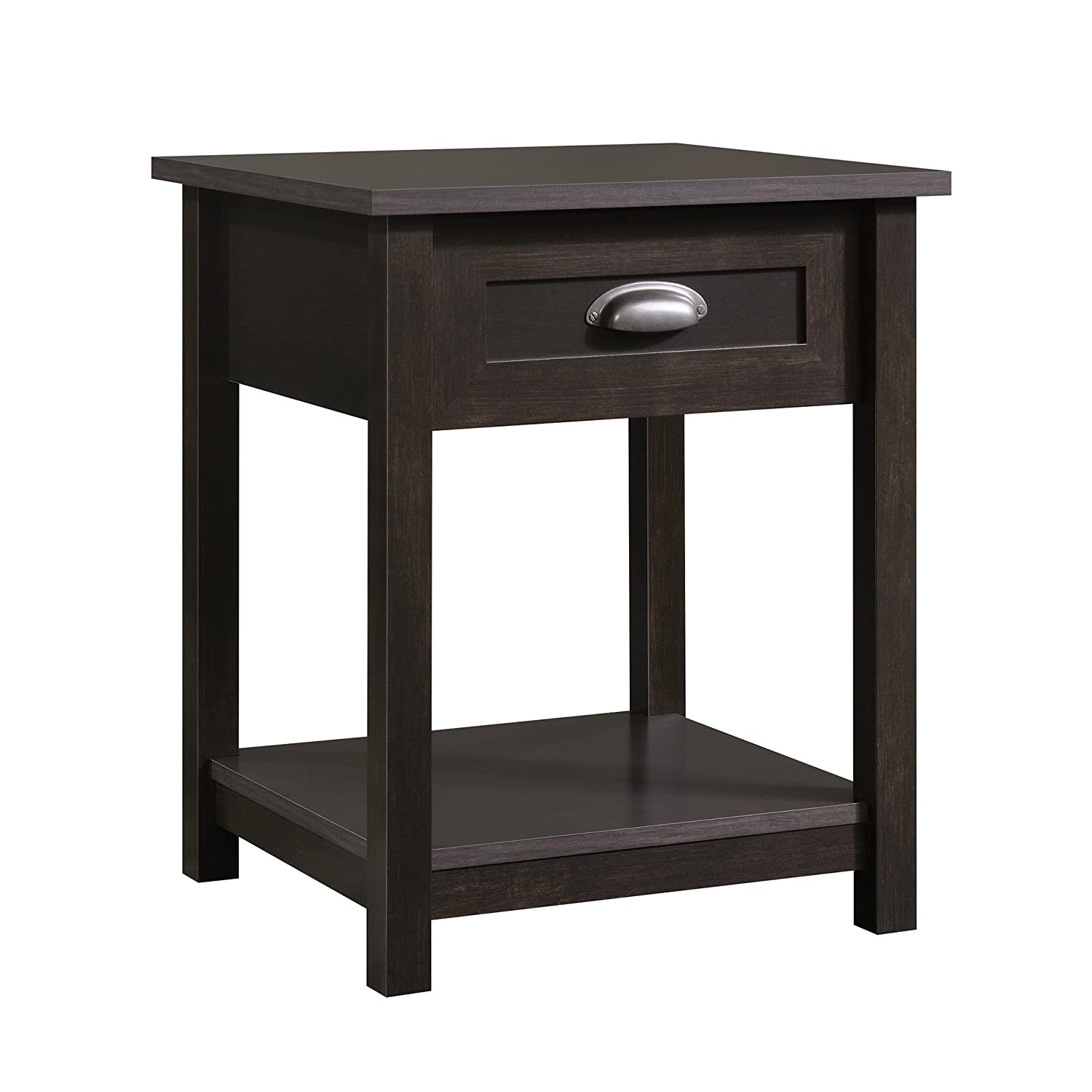 Sauder County Line Night Stand with Estate Black Finish Sauder Woodworking 416744