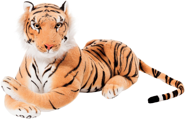 BRUBAKER Tigre di peluche - 75 cm 75er braun Leoni e altri grandi felini