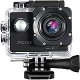 Pictek WIFI Action Camera Sportiva Impermeabile 1080P HD 12MP Imagine e 30fps Video con 2-indici LCD Schermo /170 Gradi Ampio Angolo/ Multipli Accessori per Outdoor/Sport
