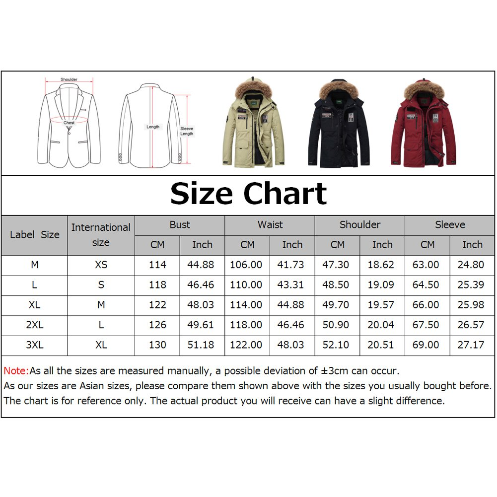 TAPOO Mens Thick Down Coats Fur Hooded Zipper Windproof Winter Down Parka Jacket Outerwear at Amazon Mens Clothing store: