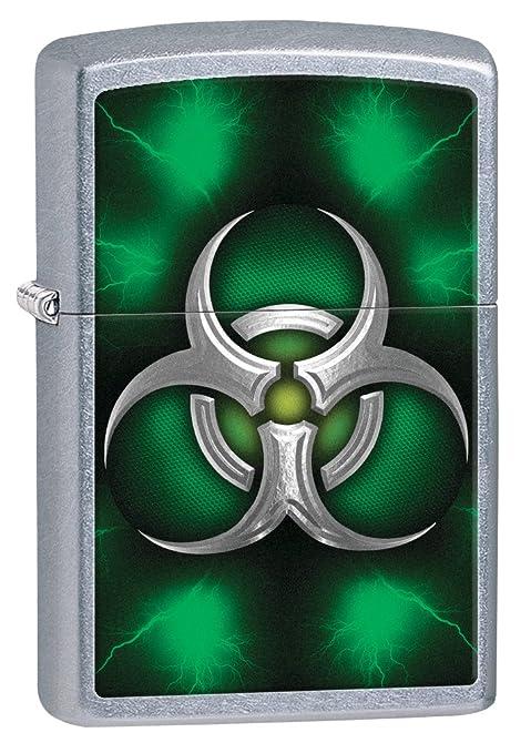 Zippo Biohazard Green - Pastilla de Encendido para Acampada, Color Plateado (Street