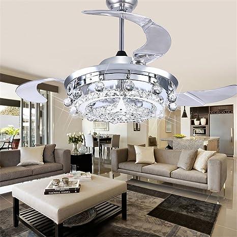 Lampadari Moderni Sala Da Pranzo.Joeyhome Ventola Led Lampadario Di Cristallo Sala Da Pranzo