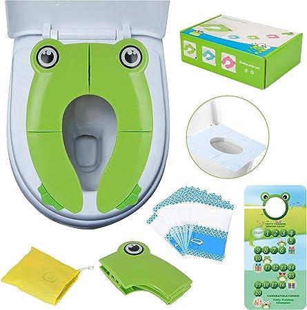 Seguro y cómodo Asientos para WC: Debajo del inodoro, hay almohadillas de goma antideslizantes de 4