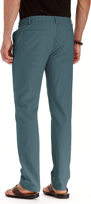 Amazon.com: ZYFMAILY - Pantalones de playa con cordón para ...