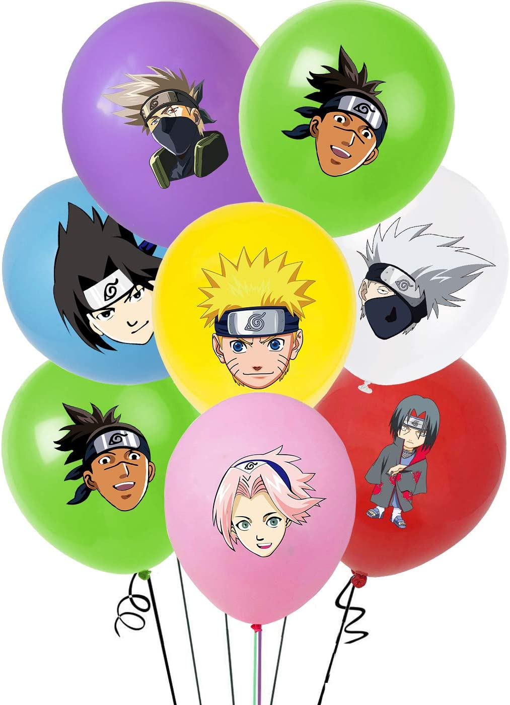35pcs Anime party supplier Balloons set 12 Latex Balloons Kids Baby Shower Naruto fans Birthday Party Decorations