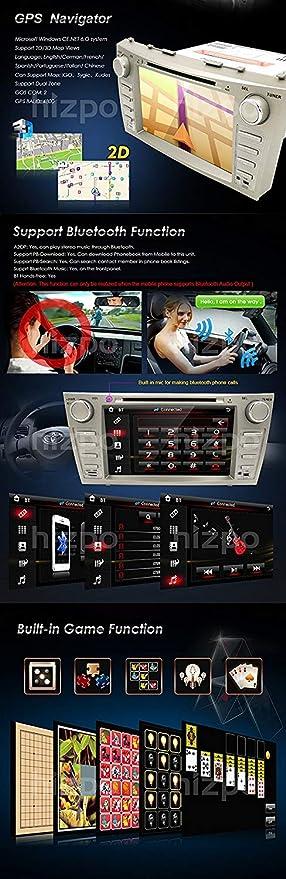 HIZPO Fit Toyota Camry Aurion 07 - 11 en Dash Doble DIN 8 Pulgadas ...