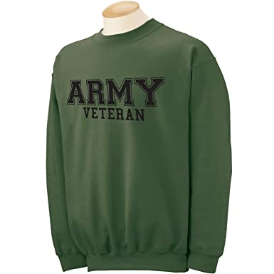 Amazon.com  ZeroGravitee Army Veteran Black logo Military Style PT Crewneck  Sweatshirt  Clothing a900dd88c
