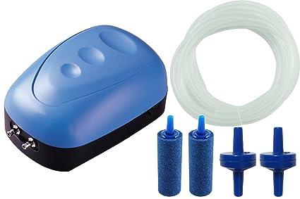 erthome 3W Super Silent Adjustable Aquarium Air Pump Fish Tank Oxygen Air Pump New Home