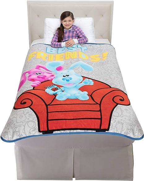 Franco Kids Bedding Super Soft Micro Raschel Throw 46 x 60 Blues Clues