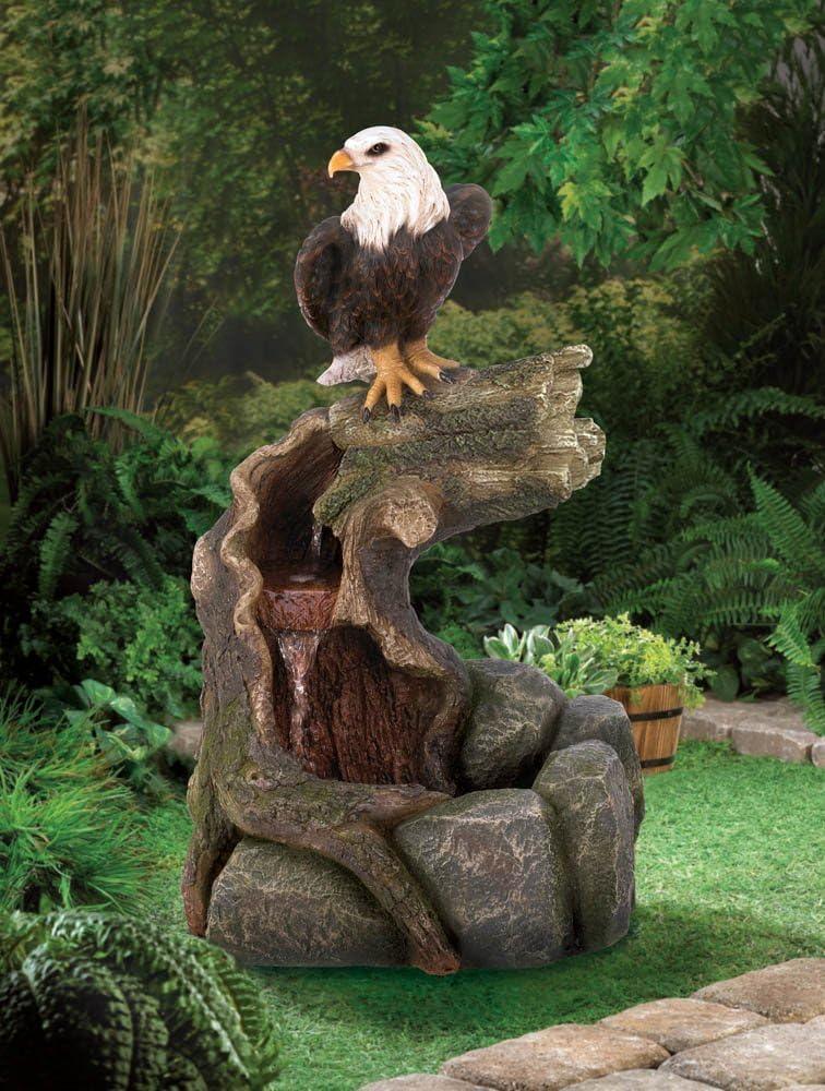Majestic Eagle Fountain Indoor and Outdoor Fountains Water Fountain Garden Fountain
