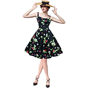 eb6b761661d9 Maggie Tang 50s 60s Vintage Cocktail Retro Swing Rockabilly Full Circle  Dress
