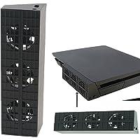 QUMOX PS4 Slim Ventilateur Super Cooling - Turbo Cooler Noir pour Playstation 4