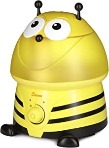 Crane Adorables Ultrasonic Cool Mist Humidifier, Filter Free, 1 Gallon, 24 Hour Run Time, Whisper Quite, for Home Bedroom Baby Nursery and Office, Bumble Bee