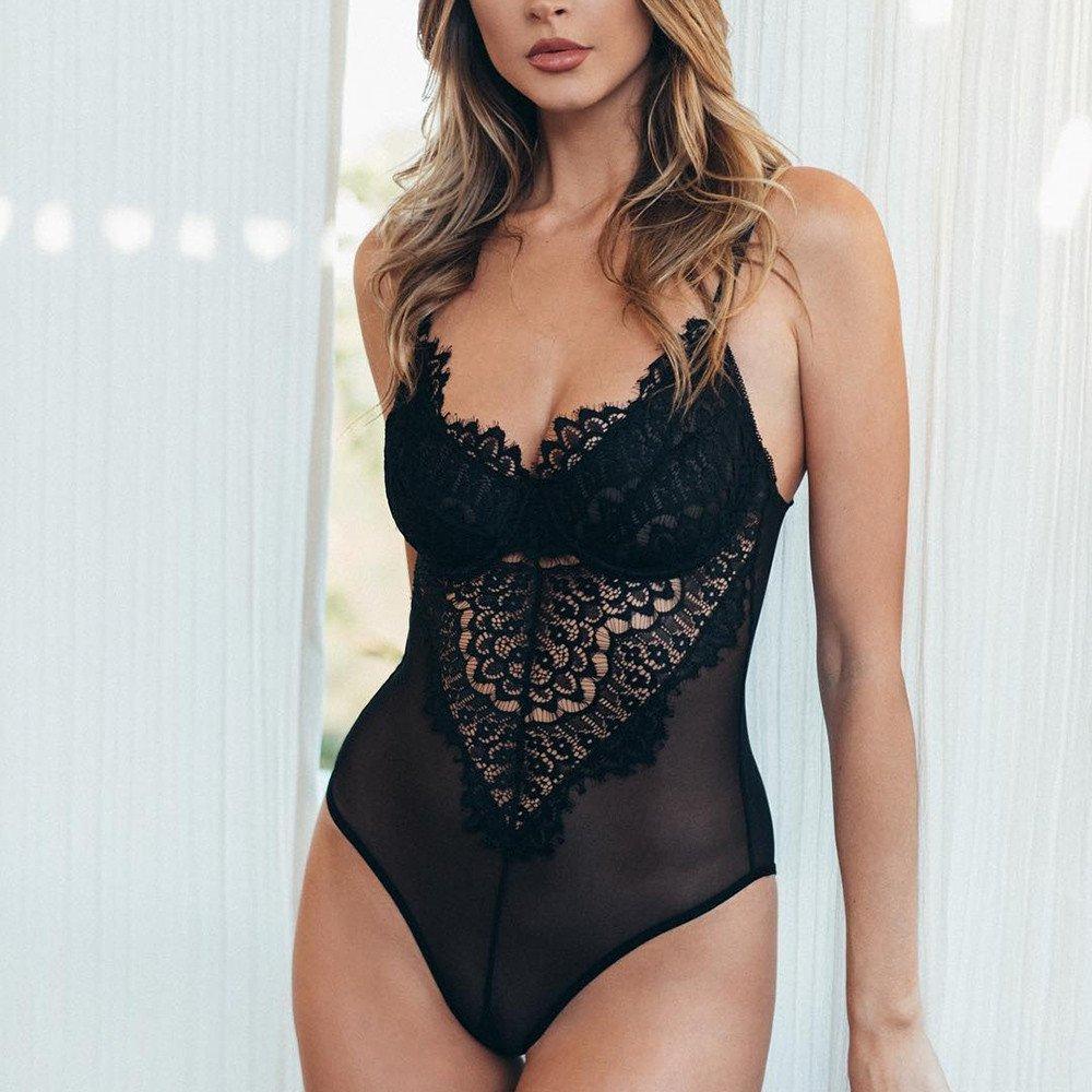 Lingerie for Women One Piece Pajamas Corset Lace Underwire Racy Muslin Bodysuit Temptation Underwear