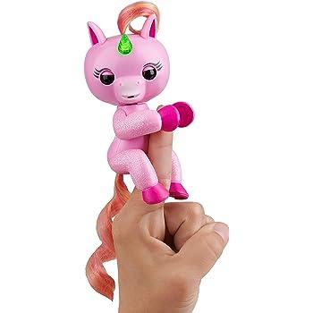 Amazon Com Fingerlings Baby Unicorn Gemma Pink With