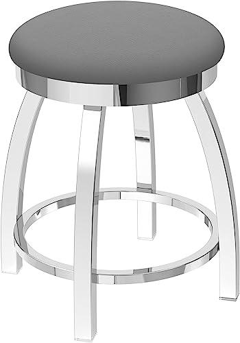 Holland Bar Stool Co. 80218CH007 802 Misha Vanity Stool, 18 Seat Height, Canter Folkstone Grey