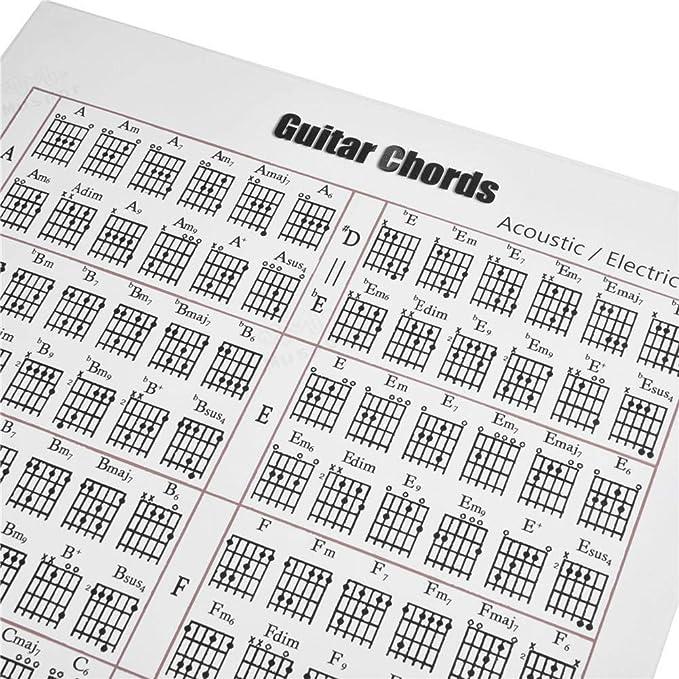 Knowledgi Pegatina de acorde de Guitarra/Piano: Acorde de ...