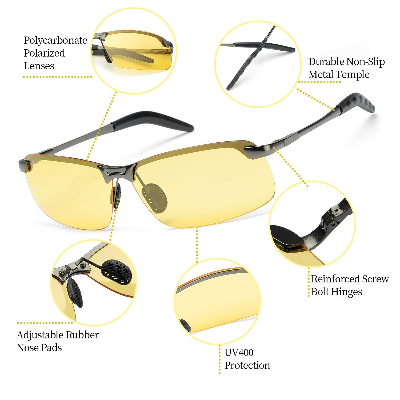 Nacht Brille Nachtsichtbrille zum Autofahren Herren Damen polarisiert