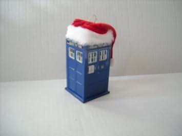 Amazoncom Doctor Who  Dr Who Tardis with Santa Hat Christmas