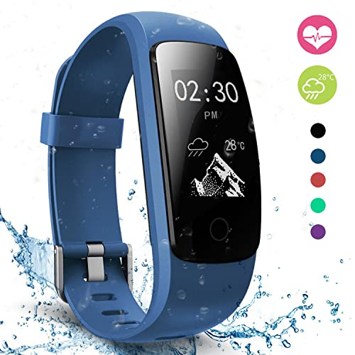 moreFit Fitness Tracker with Heart Rate Monitor, Touch HR Waterproof Activity Tracker Wearable Outdoor Smart Wristband Pedometer Sleep Tracking