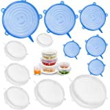 Silicone Stretch Covers Miracle Lids - Lonnie Life Reusable Silicone Food Lids, Durable and Expandable Lids to Fit…