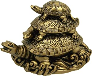 Feng Shui Three Tier Tortoise (Three Generation Turtle) Statue Home Decor for Healthy andLongevity