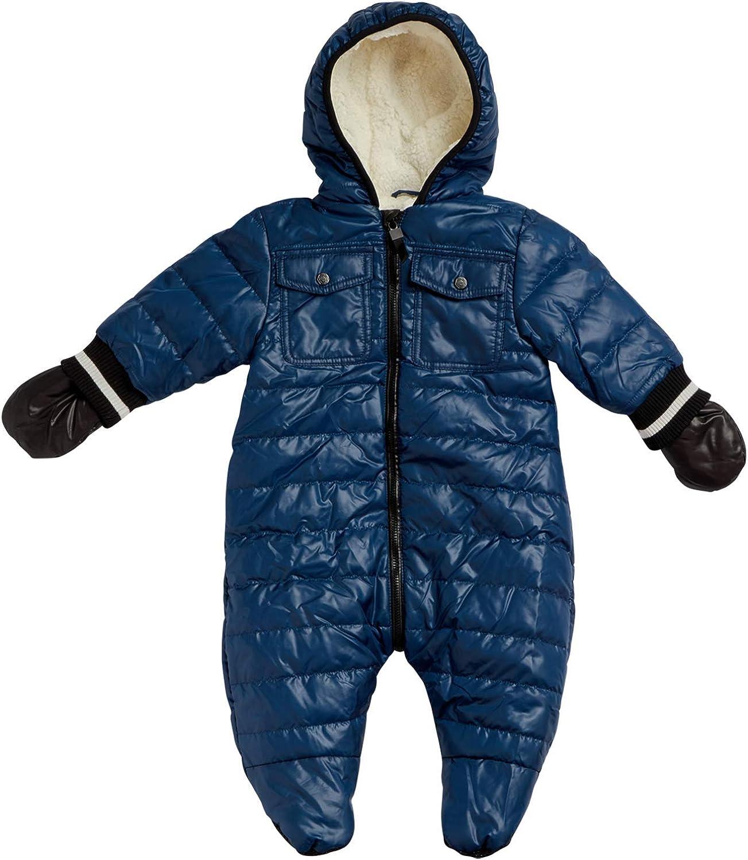 Urban Republic Baby Boys Snowsuit Winter Pram Newborn and Infant Fully Sherpa Fur Lined