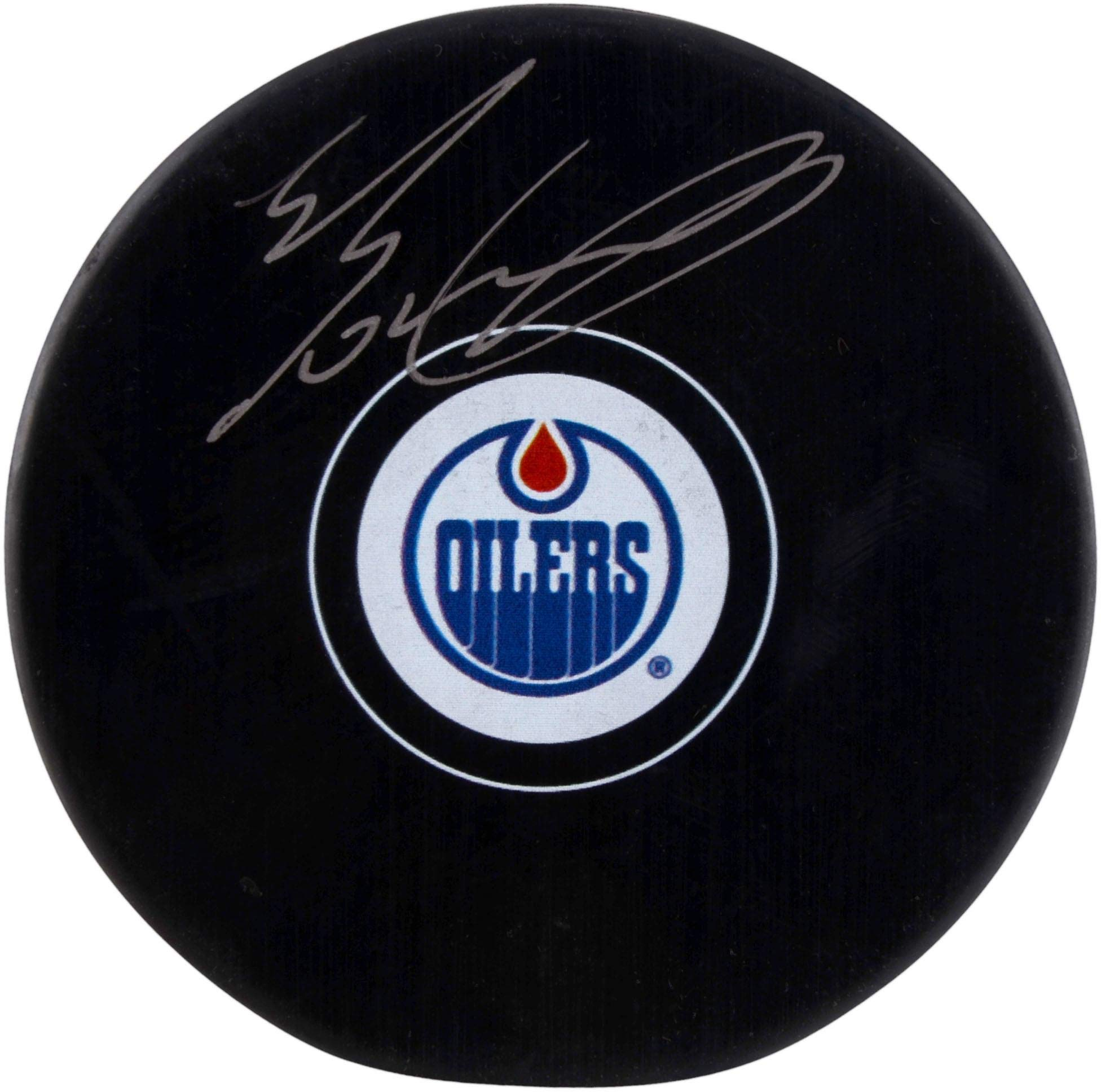 Evan Bouchard Edmonton Oilers Autographed Hockey Puck Fanatics Authentic Certified Autographed NHL Pucks