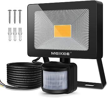 MEIKEE 20W Foco LED con Sensor Movimiento de 1800LM, Proyector LED ...