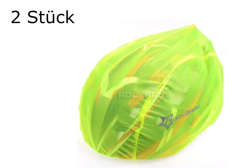 Lot de 2Casque Housse en jaune pour casque de vélo–Protection contre la pluie, Vent, le soleil | Logo réfléchissant pour la sécurité | étanche Housse de pluie | Jaune Casque de protection cordon de serrage réglable (2pièces) rockbros