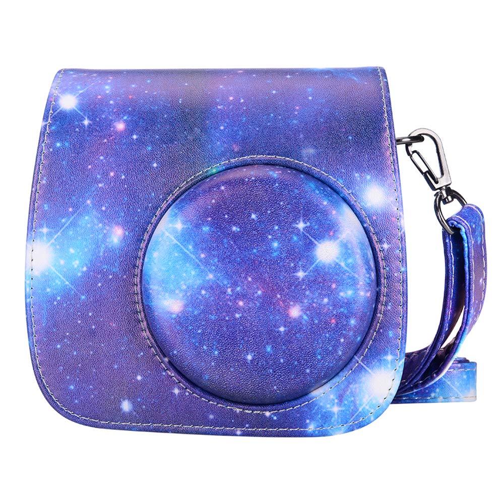 É tui pour Appareil Photo Kaka Instax pour Fujifilm Instax Mini 9/Mini 8/Mini 8+ Appareil Photo avec Bracelet et Poche (Blanc) Kaka mini 9 case