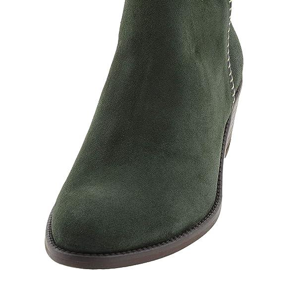 Botines Valverde Camino Piel Talla: 36 Color: Verde: Amazon.es: Zapatos y complementos