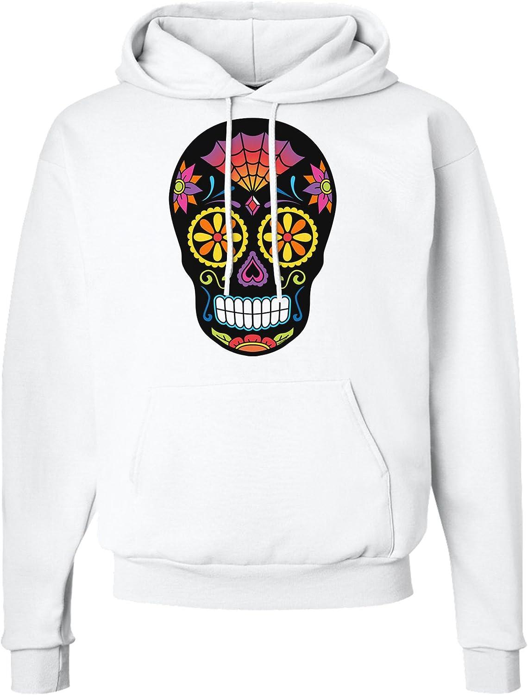 TooLoud Version 2 Black Day of The Dead Calavera Hoodie Sweatshirt