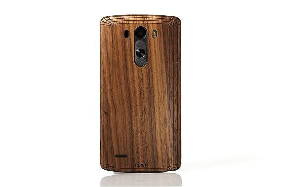 Amazon.com: Toast Real madera carcasa para LG G3 ...