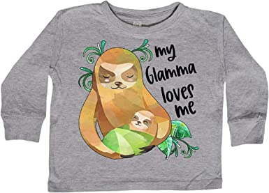 inktastic My Grannie Loves Me with Bigfoot Toddler T-Shirt