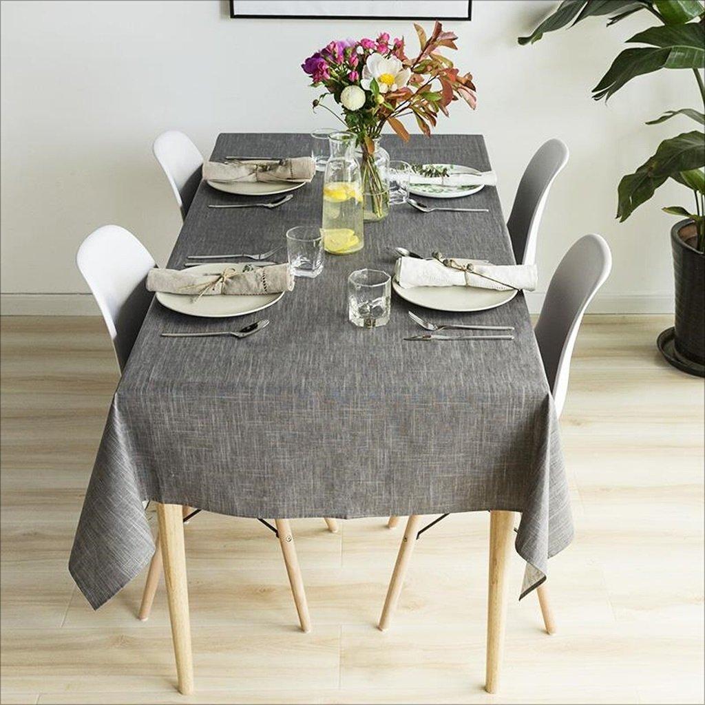 LIAN Tovaglia da Tavolo tovagliata Impermeabile Europea Resistente all'olio e Impermeabile (colore   Dark grigio, Dimensioni   55.1  55.1inch)