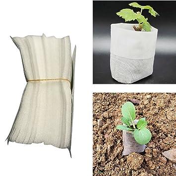 100pcs Bolsas de crecimiento de plantas, Woopower tela no ...