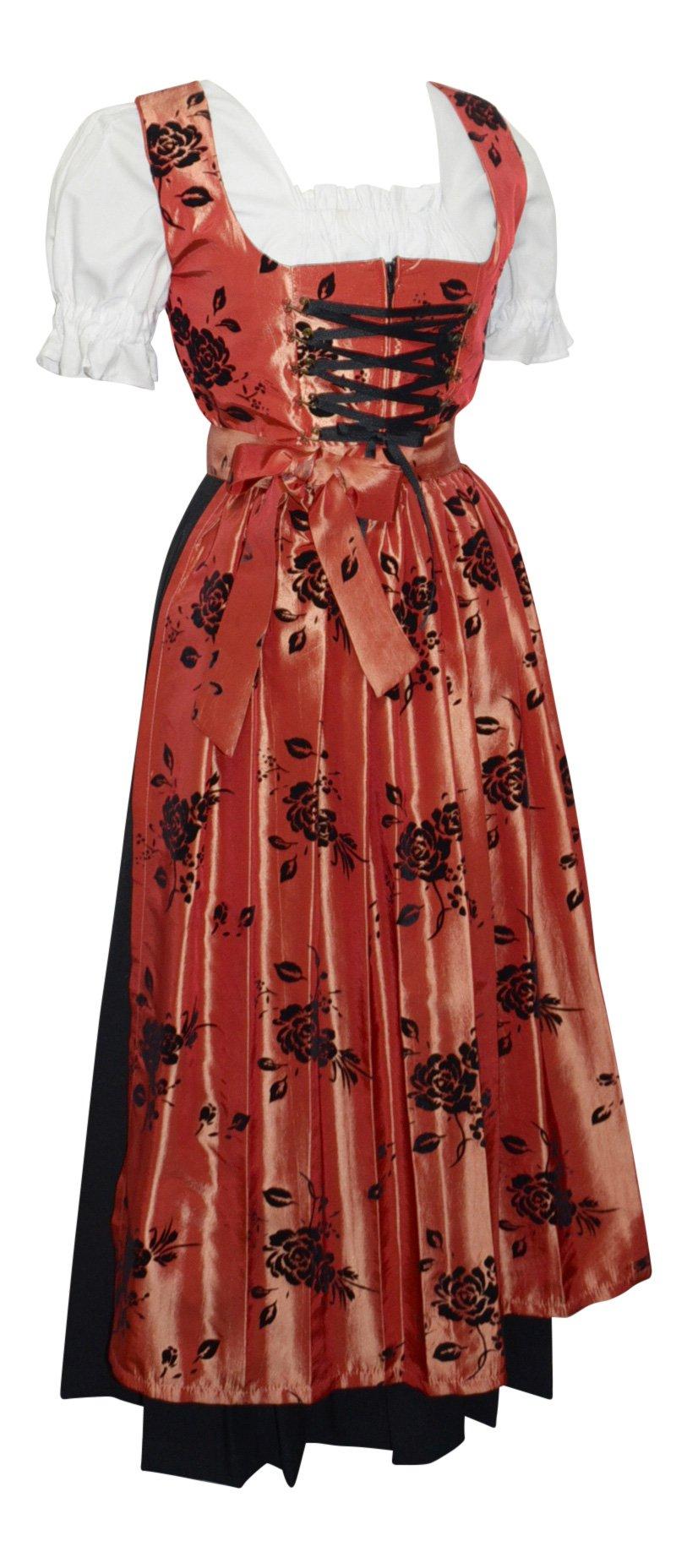 Almenrausch 3 Piece Long Black German Dirndl Dress by Almenrausch