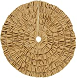 Burlap Natural Rustic Ruffled Christmas Tree Skirt, 48 inches, Holiday Decoration