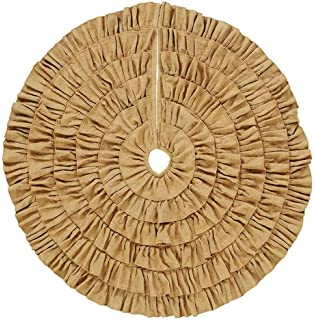 burlap natural ruffled 48 christmas tree skirt - Small Christmas Tree Skirts