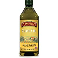 Pompeian Classic Olive Oil, Mild Flavor, Perfect for Roasting and Sauteing, Naturally Gluten Free, Non-Allergenic, Non…