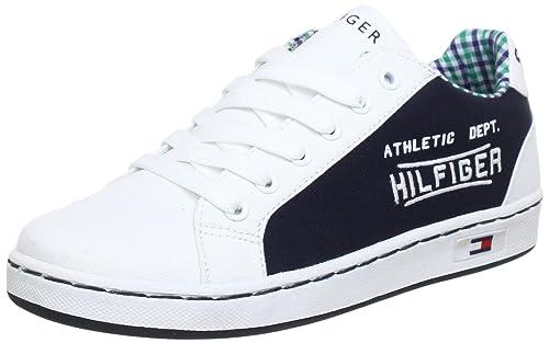 Tommy Hilfiger COOPER 4A - Zapatillas de lona niño, color azul, talla 27: Amazon.es: Zapatos y complementos