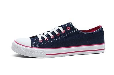 af2ec0363368 FBetter Women Sneakers Low-Top Canvas Sports Shoes (Denim EU38)