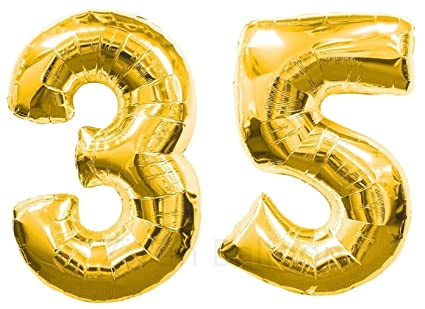 Amazon ZIYAN 40 Inch Giant 35th Gold Number BalloonsBirthday