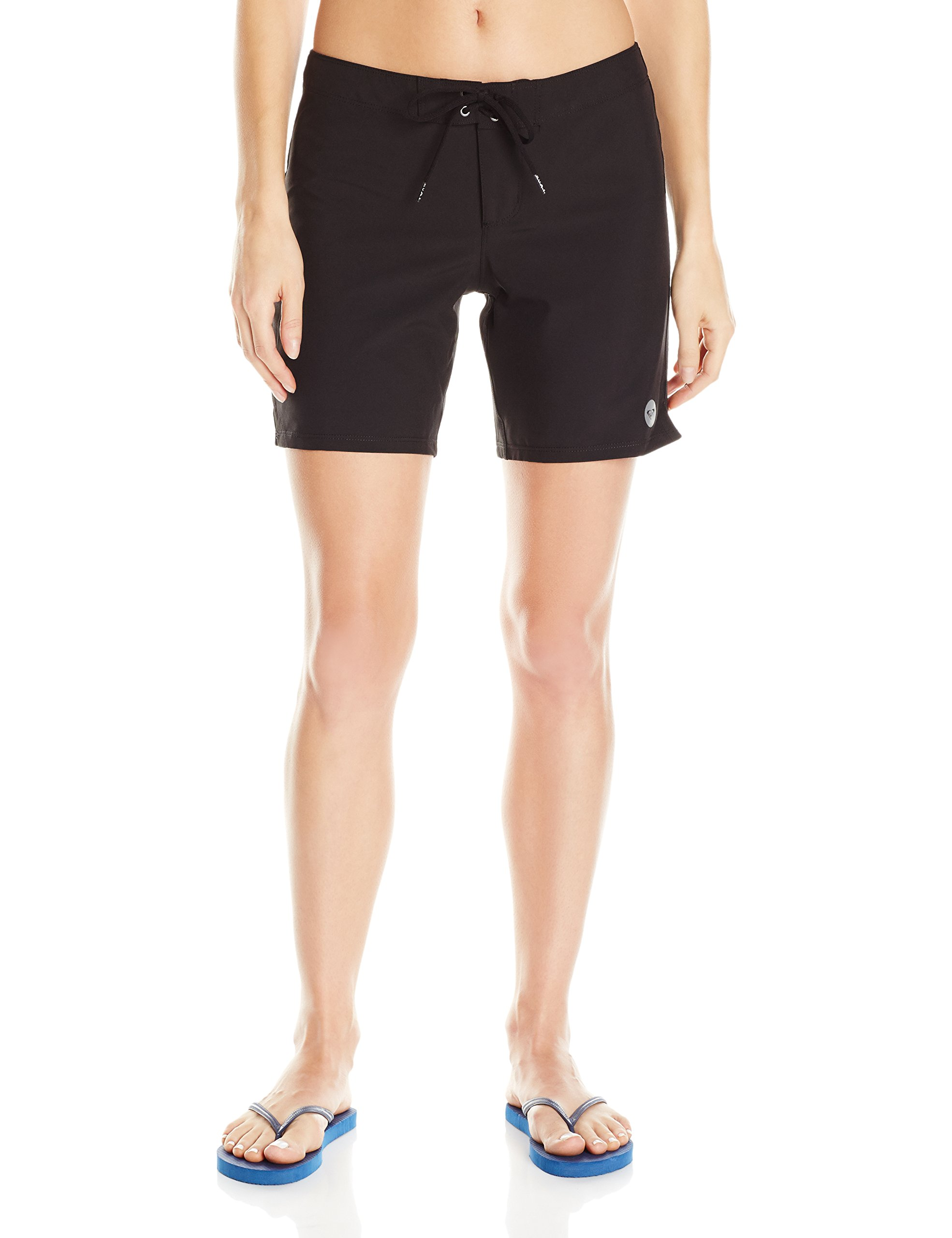 Roxy Women's to Dye 7 Inch Boardshort, True Black, XS by Roxy