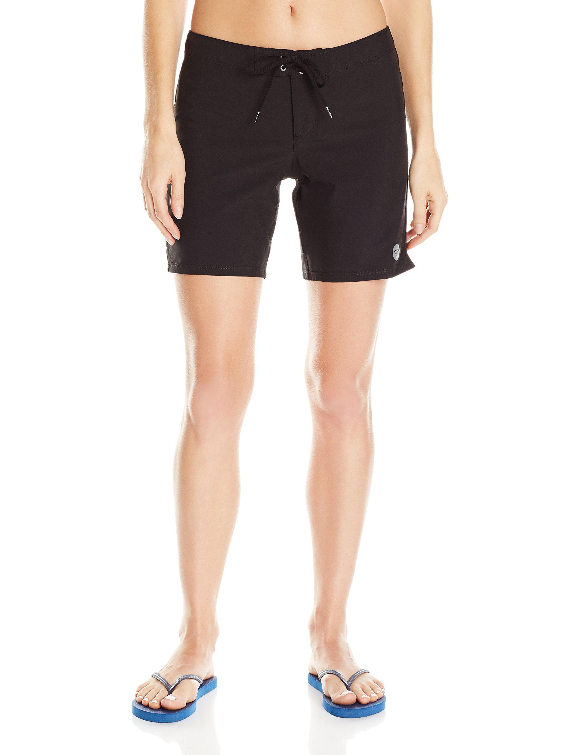 Roxy Women's to Dye 7 inch Boardshort, True Black, M